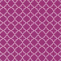 Lunch Servietten Quattrefoil Lattice pink