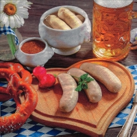 Servietten 33x33 cm - Bavarian Meal