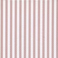 Servietten 33x33 cm - Klassik Streifen shiny rosé