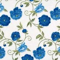 Servietten 24x24 cm - Peony blue