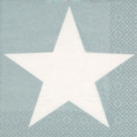 Servietten 33x33 cm - Bright Star silver
