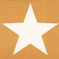 Servietten 33x33 cm - Bright Star gold