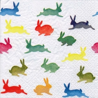 Lunch Servietten Colorful Rabbits