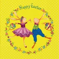 Lunch Servietten Easter Dance yellow