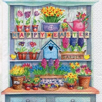 Servietten 33x33 cm - Happy Easter Cupboard