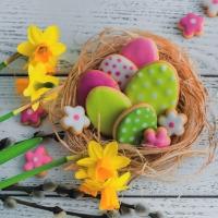 Servietten 33x33 cm - Easter Cookies