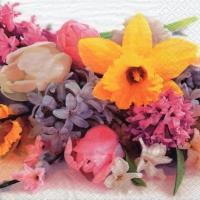 Servietten 33x33 cm - Spring Flower Mood
