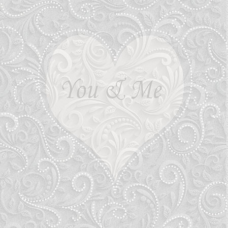 Servietten 25x25 cm - You & Me Champagne