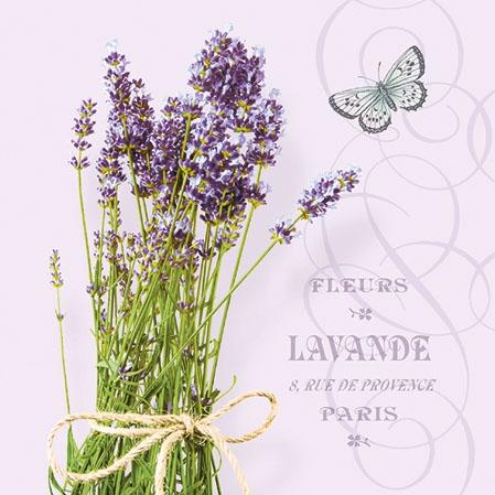 Servietten 25x25 cm - Bunch Of Lavender Lila