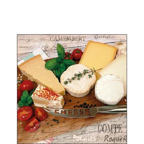 Servietten 25x25 cm - Palette of Cheeses