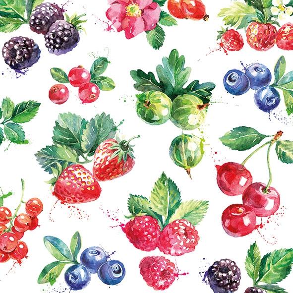 Servietten 33x33 cm - Mixed Fruit