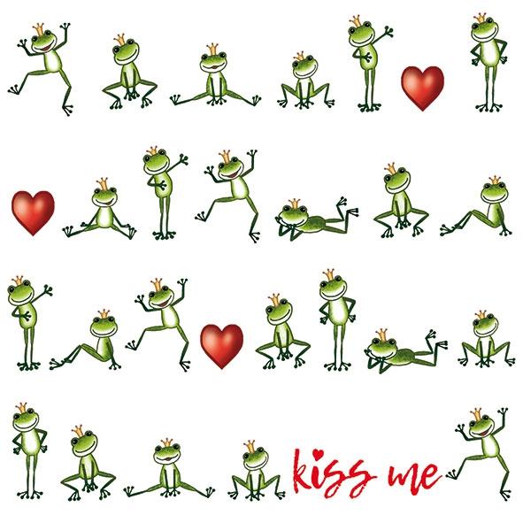 Servietten 33x33 cm - Kiss Me