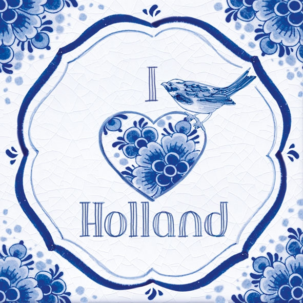 Servietten 33x33 cm - Holland Tile