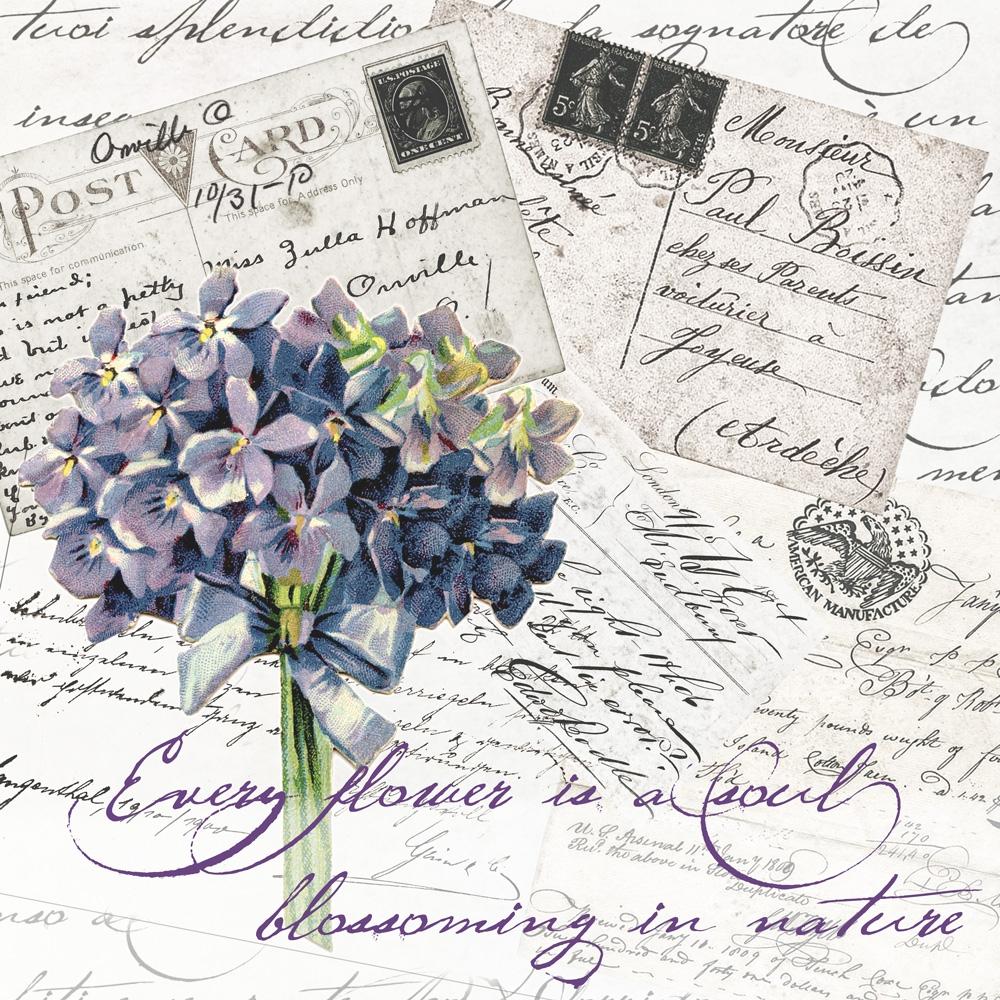 Servietten 33x33 cm - Romantische Briefe
