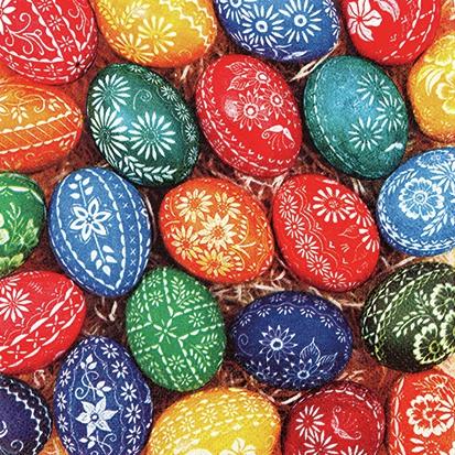 Servietten 25x25 cm - Handgefertigte Eier