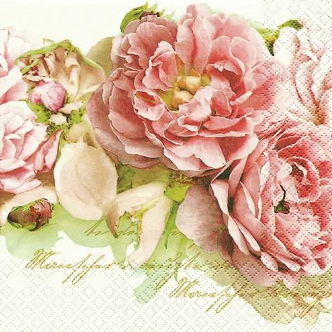 Servietten 33x33 cm - Mary Roses