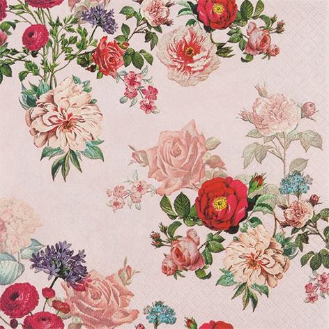 Servietten 33x33 cm - Elisabeth rose