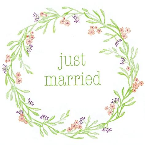 Servietten 33x33 cm - Mia: Just Married
