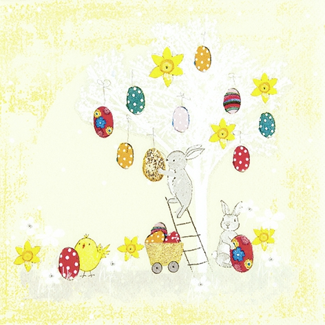 Servietten 33x33 cm - Easter Tree