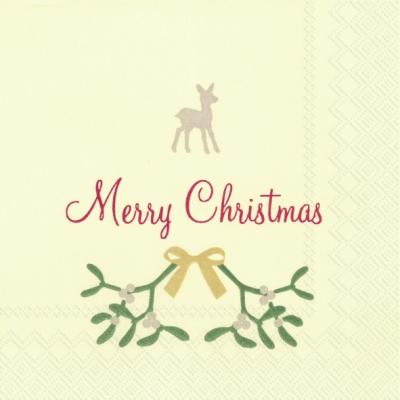 Servietten 25x25 cm - SWEET MERRY CHRISTMAS cr. red