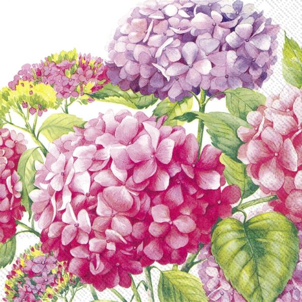 Servietten 33x33 cm - Meer der rosa Blüten