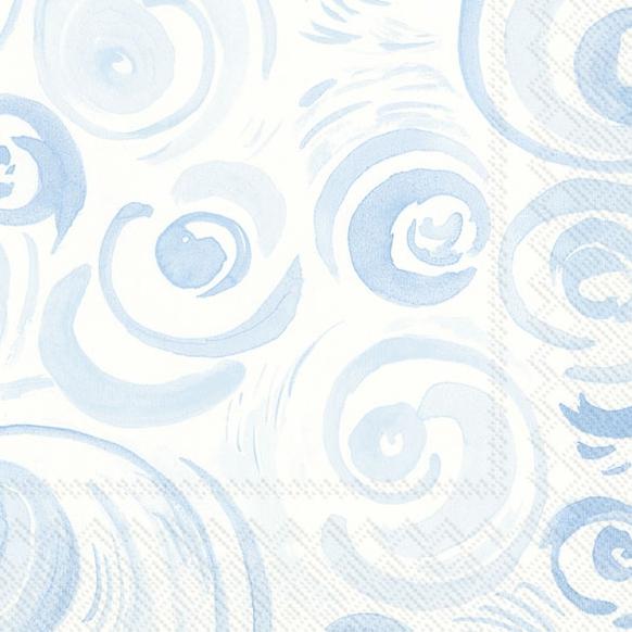 Servietten 33x33 cm - HAPPY CIRCLES light blue