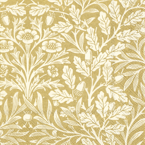Servietten 33x33 cm - ACORN (V&A) gold cream