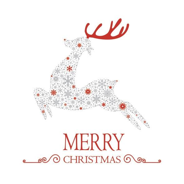 Servietten 33x33 cm - Christmas Snowflake Reindeer
