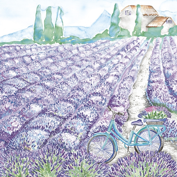 Servietten 33x33 cm - Lavender View