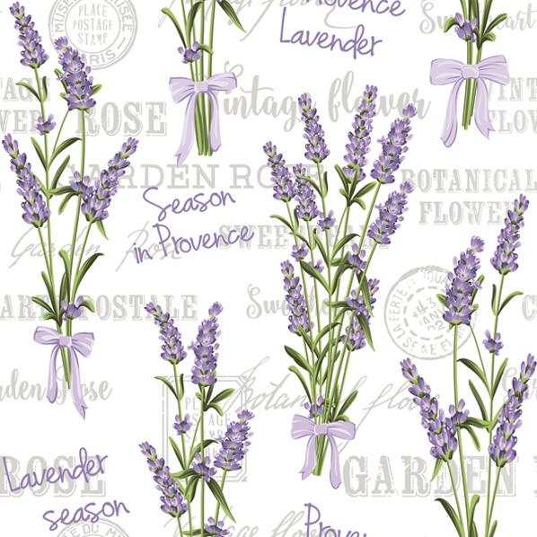 Servietten 33x33 cm - Lavender Season in Provence
