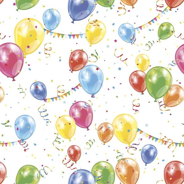 Servietten 33x33 cm - Party Balloons and Garlands