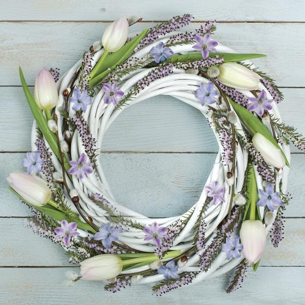 Servietten 33x33 cm - Spring Wreath
