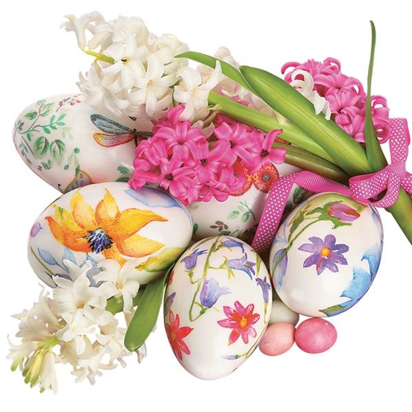 Servietten 33x33 cm - Watercolor Easter Eggs