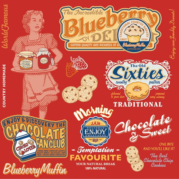 Servietten 33x33 cm - American Vintage Food