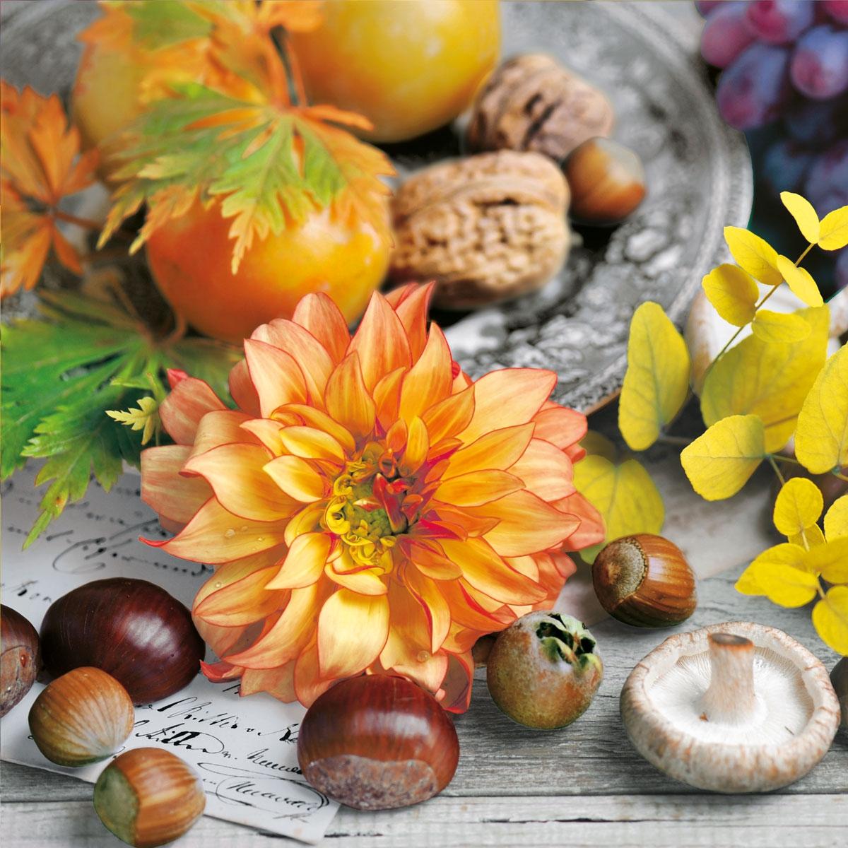 Servietten 33x33 cm - Autumnal Stil Life