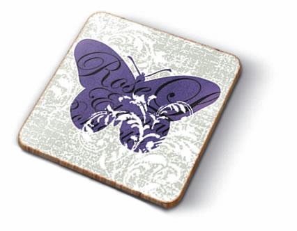 Kork Untersetzer - Romantic Butterflies