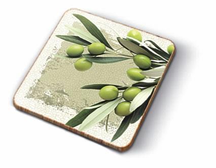 Kork Untersetzer - Greek Olives