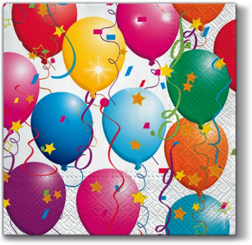 Servietten 33x33 cm - Party-Ballons