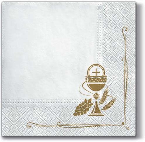 Servietten 33x33 cm - Eucharistische Anbetung