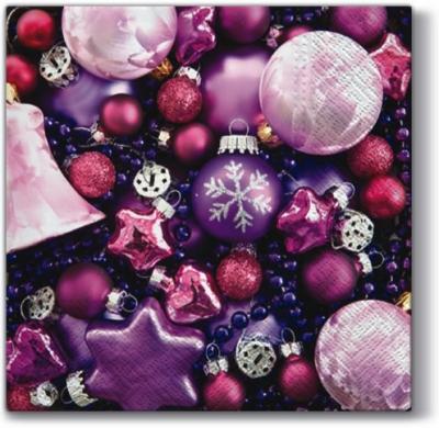 Servietten 33x33 cm - Violett Chic