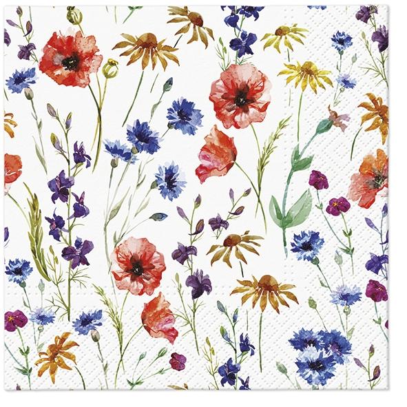 Servietten 33x33 cm - Field of Flowers