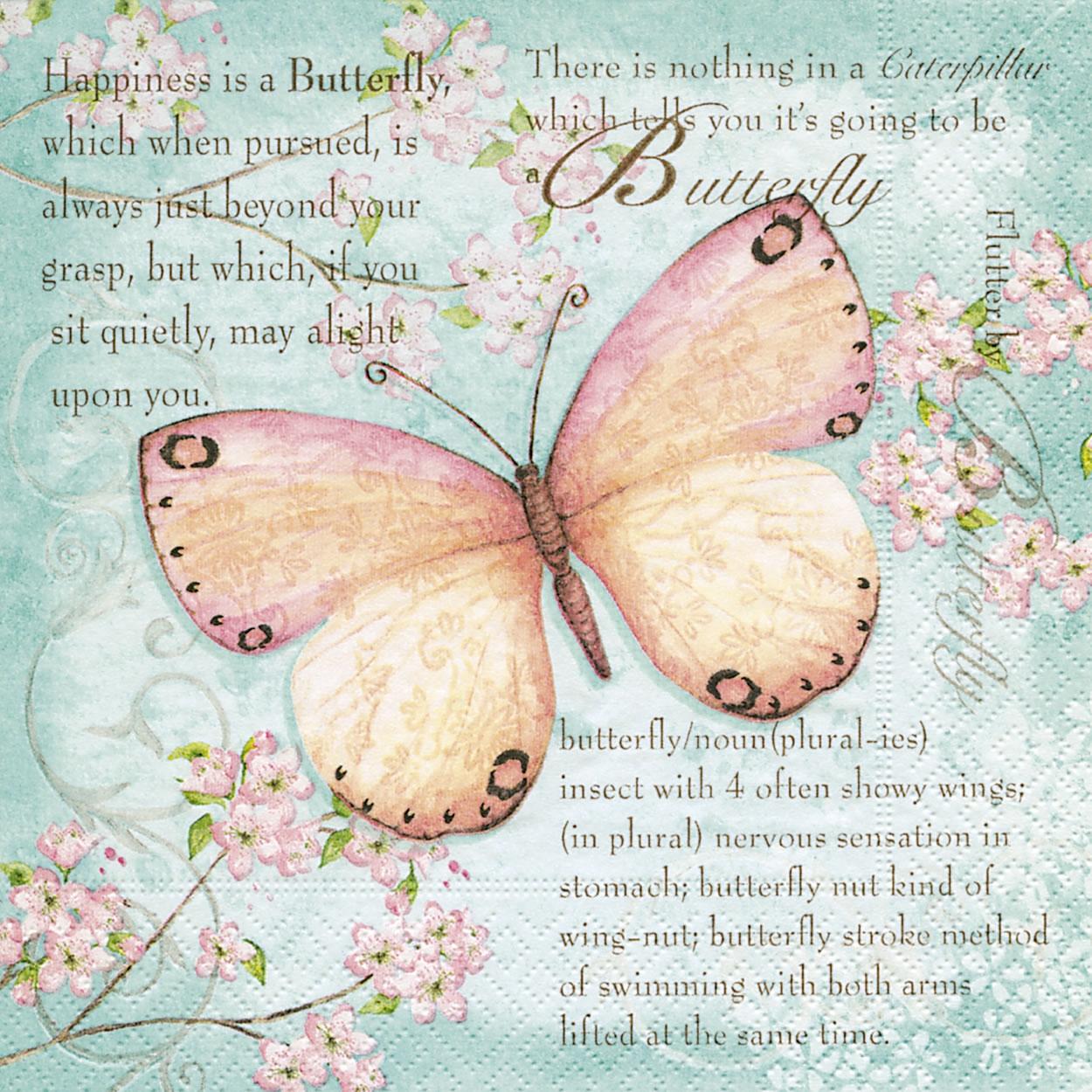 Lunch Servietten Butterfly poetry