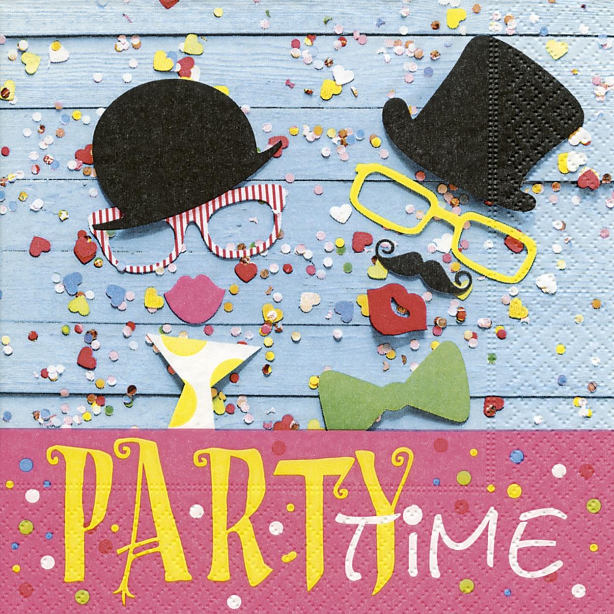 Servietten 33x33 cm - Party fun