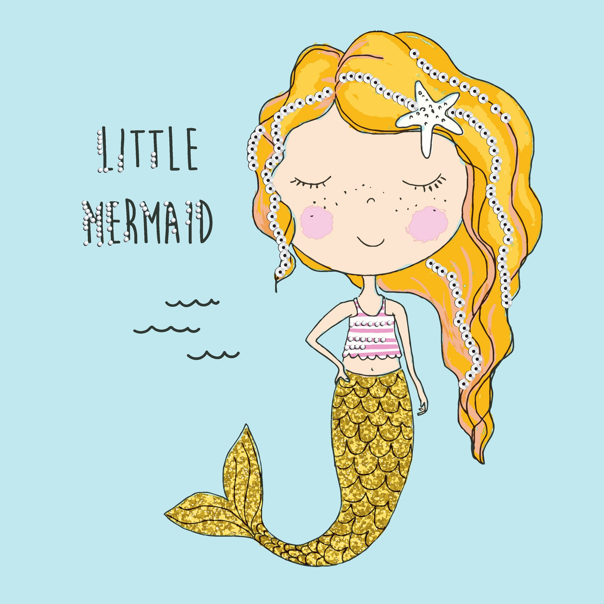 Servietten 33x33 cm - Little mermaid