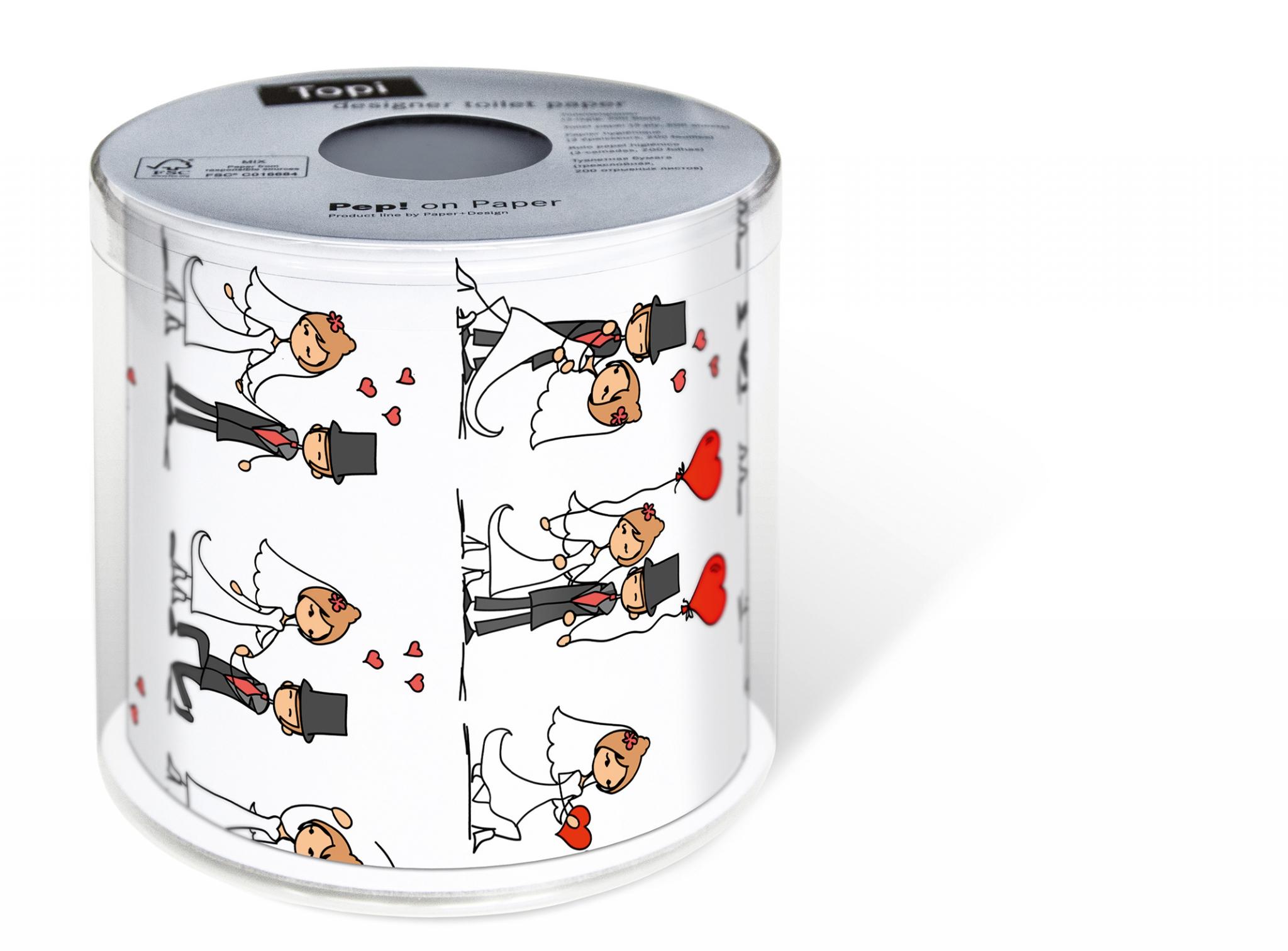 bedrucktes Toilettenpapier - Topi Wedding day