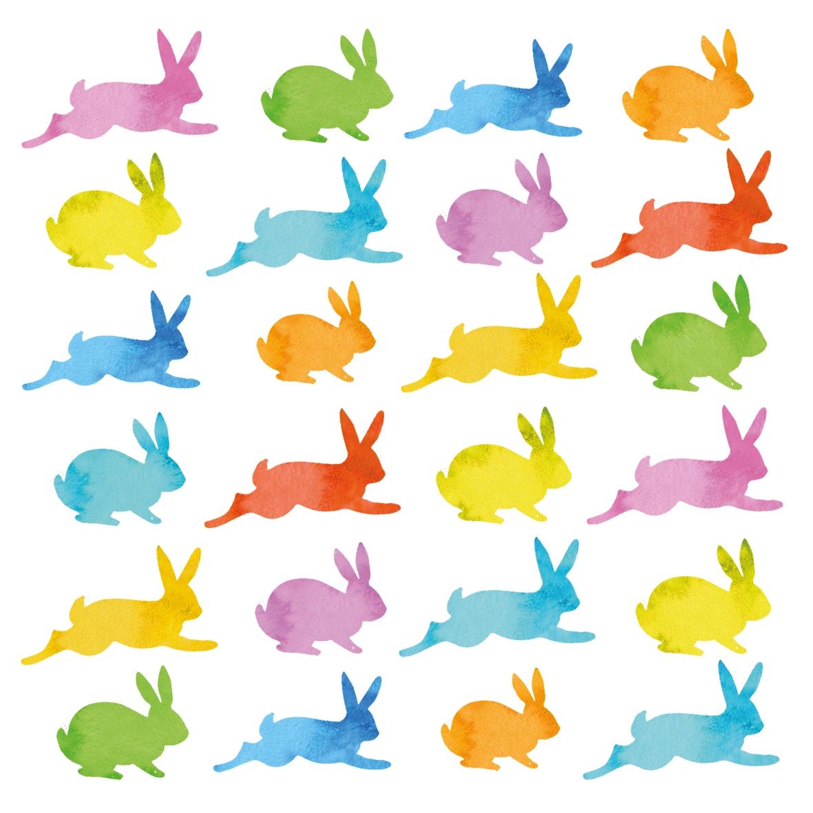 Servietten 33x33 cm - Aquarell Bunnies