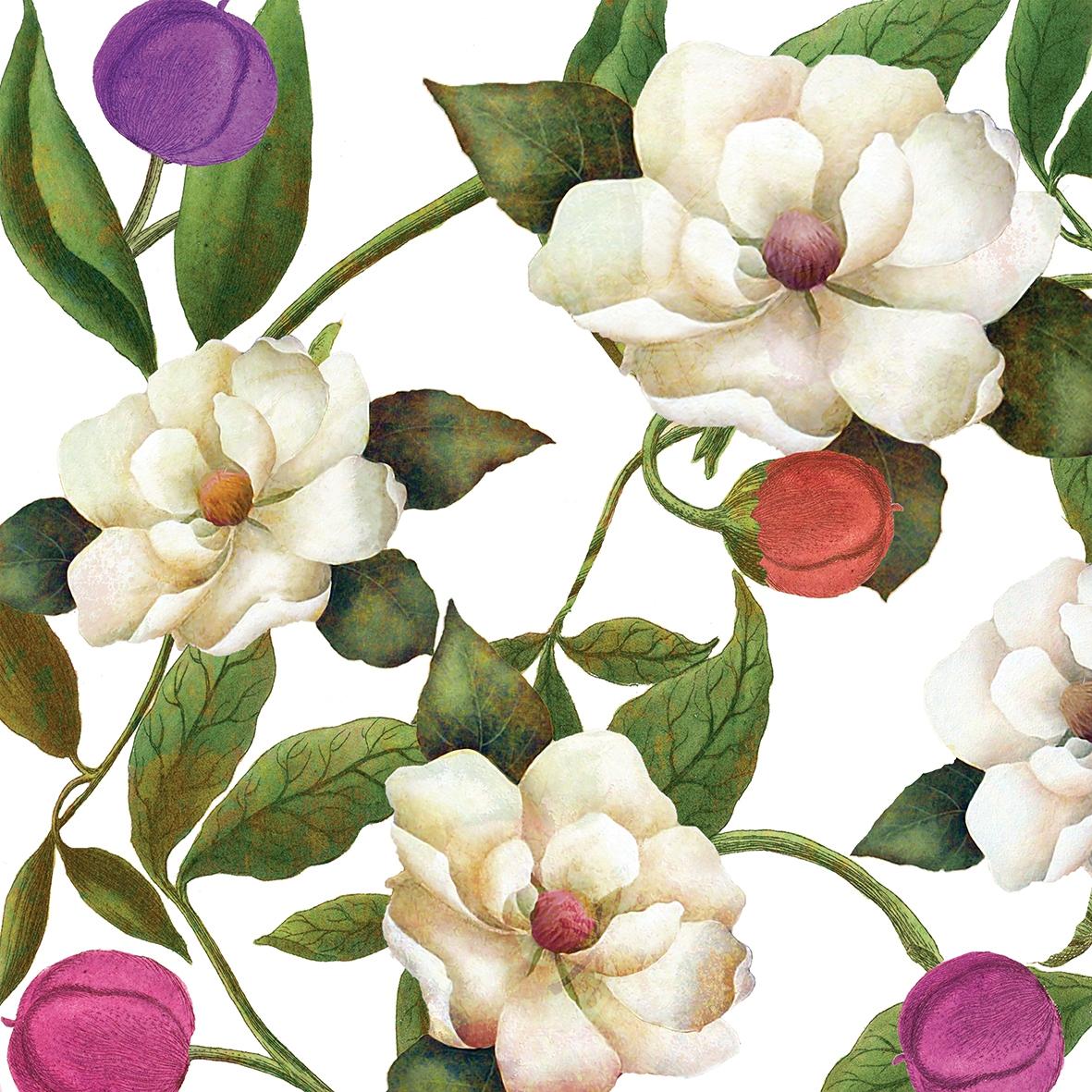 Servietten 33x33 cm - Southern Magnolias