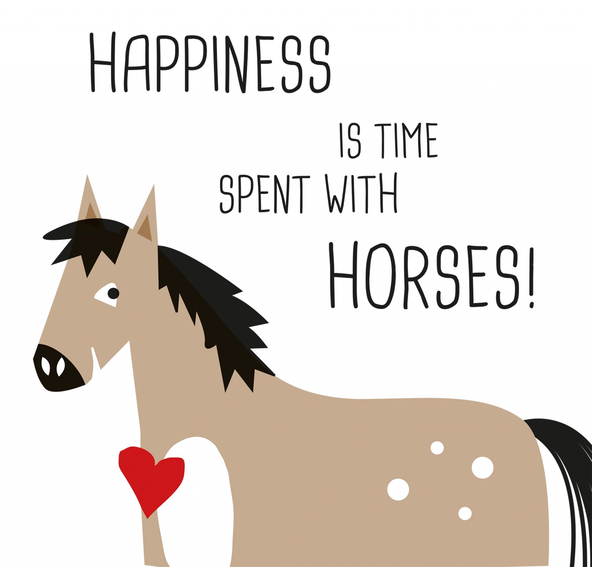 Servietten 33x33 cm - Happiness & Horses