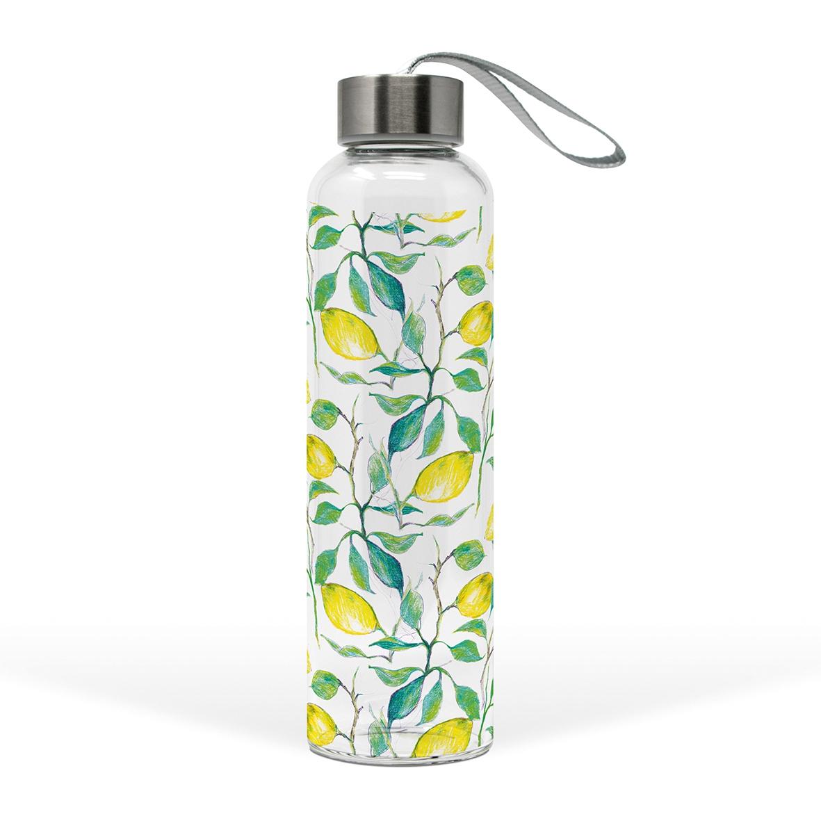 Glasflasche - Beautiful Lemons