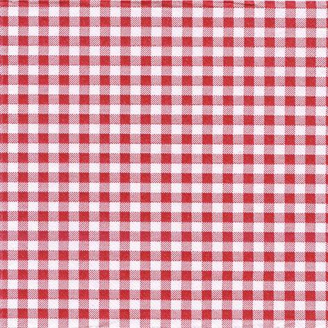 50 Tissue Servietten 33x33 cm - Vichy Rosso